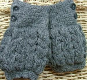 chunky alpaca fingerless gloves