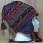 blue alpaca earflap hat