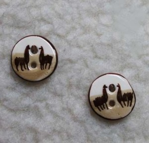 ceramic alpaca buttons
