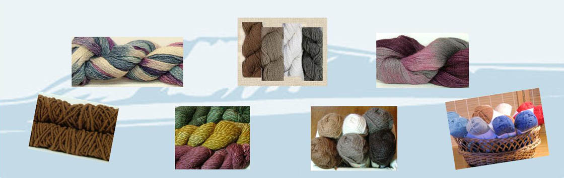 alpaca yarns collage