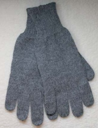 gloves, plain alpaca grey