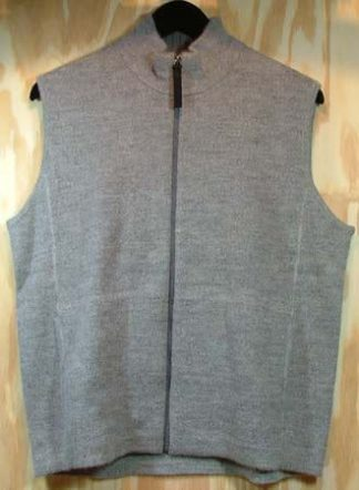 eco zip vest women's grey