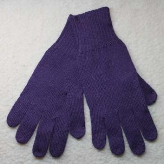 plain gloves, purple