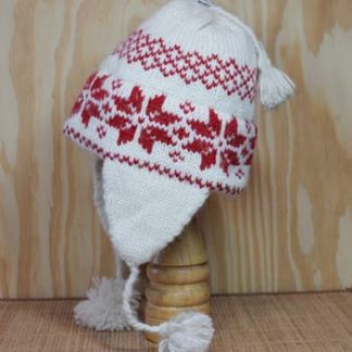 Scandinavian Holiday Red Earflap Hat
